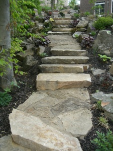 stone pathways landscaping