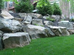 stone boulders evansville in
