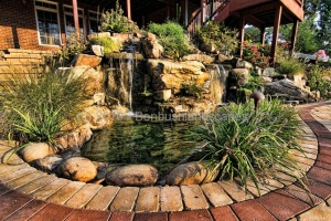 waterfall landscaping design