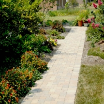unilock stone pathway design