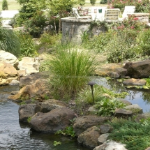 pond landscaping design evansville IN