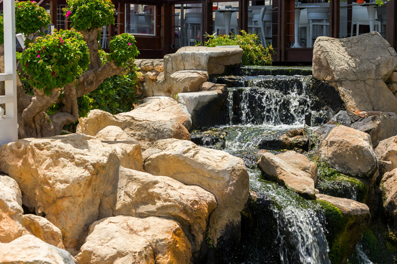 water feature, waterfall home landscaping